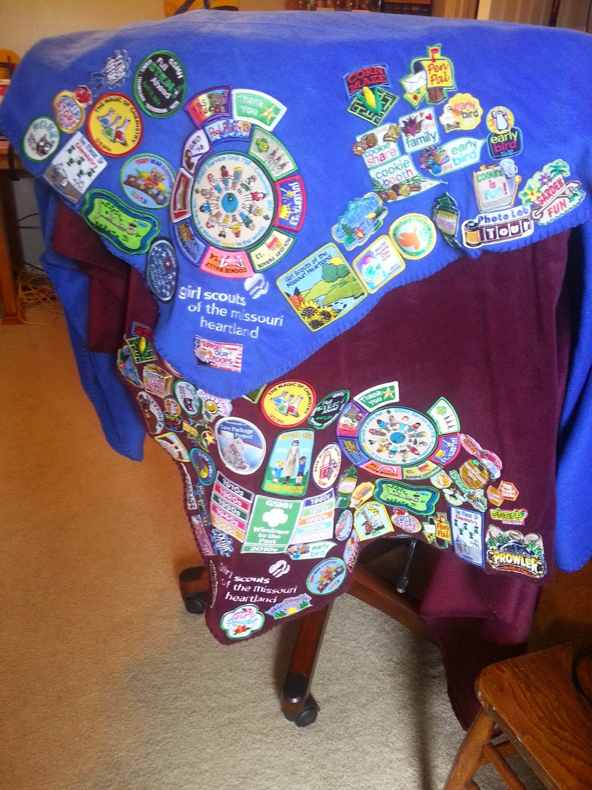Girl scout leader 101 badge blanket aka fun patch overload i mean of course the girl and i both have blankets but i didnt think about making it a post solutioingenieria Choice Image