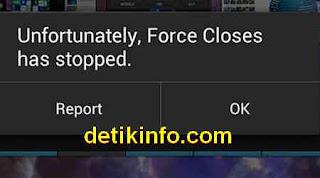 mengatasi force close ketika main game android
