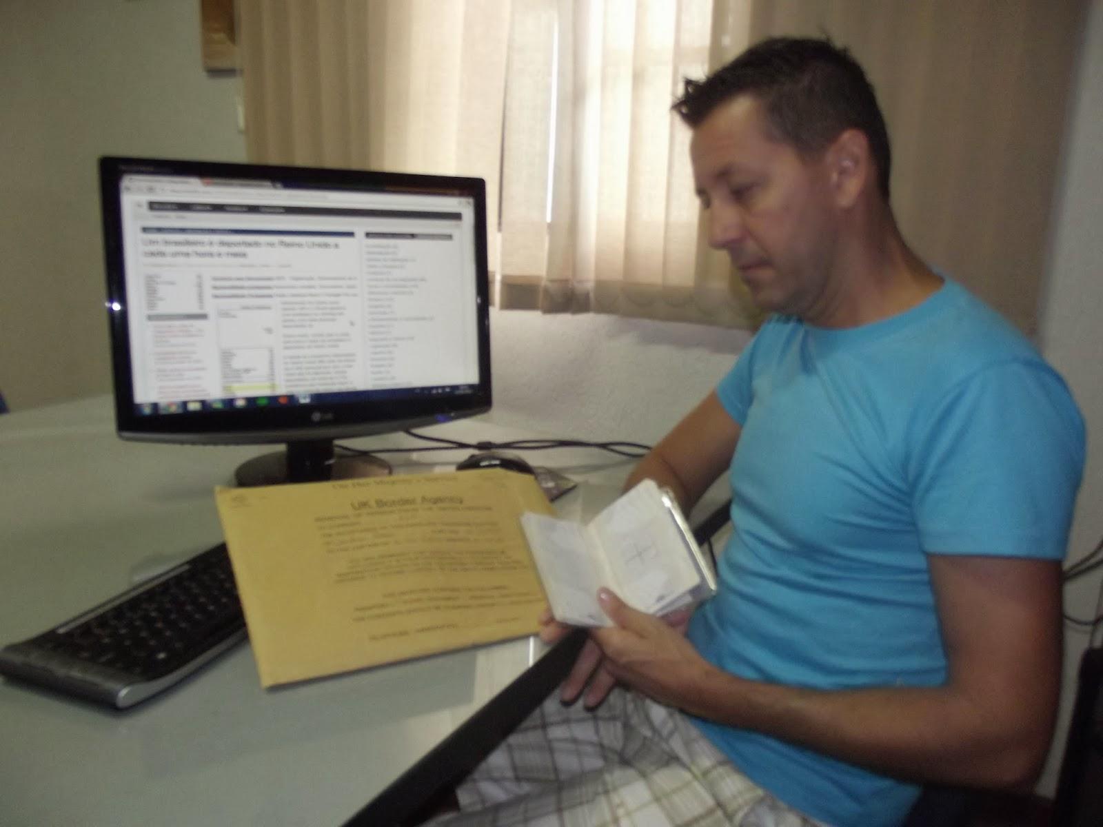 Brasileiros no Exterior - Professor Brasileiro barrado e deportado do Reino Unido - Professor claudinei-sacchi