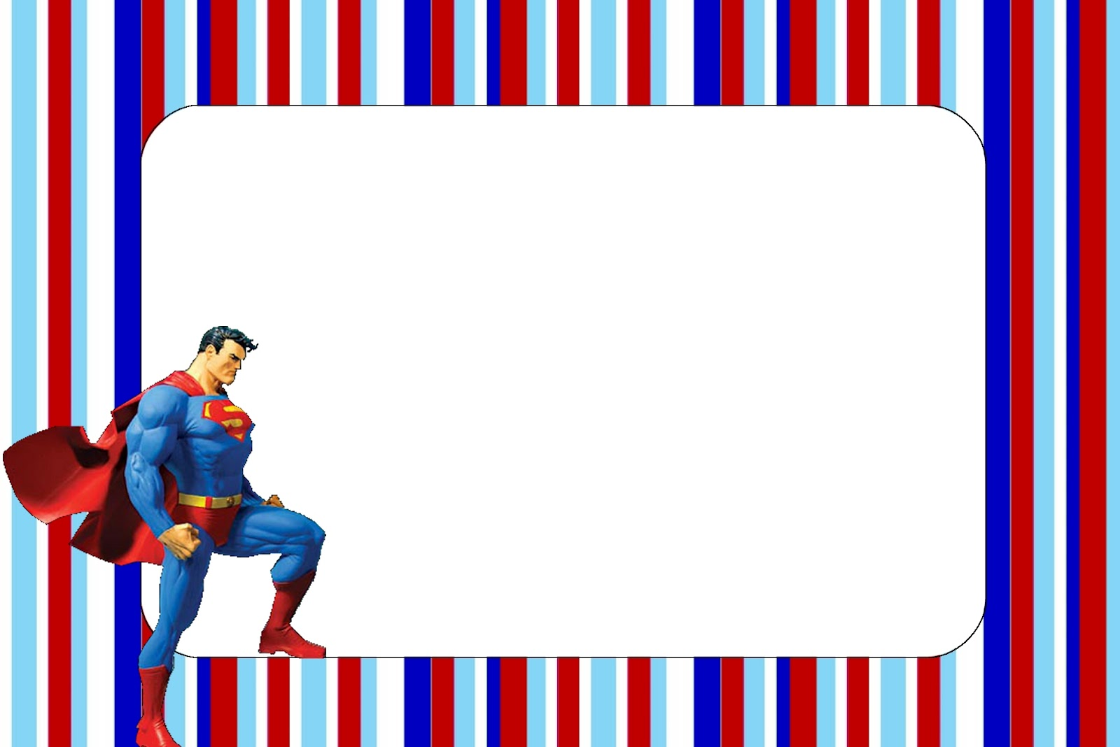 superman free printable invitations