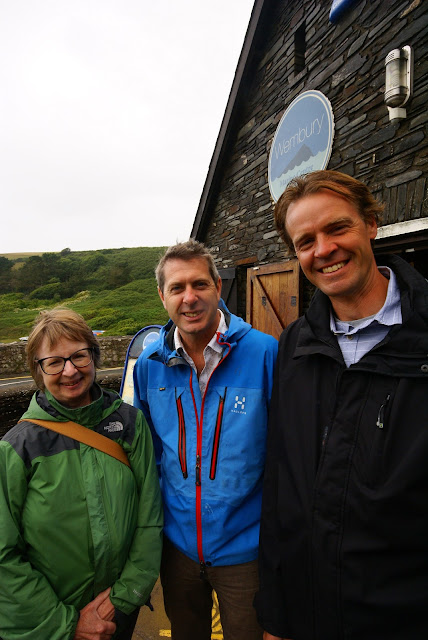 Prof Iain Stewart, centre, with Devon Wildlife Trust's Chair, Dr Peta Foxall, and Devon Wildlife Trust's Chief Executive, Harry Barton.
