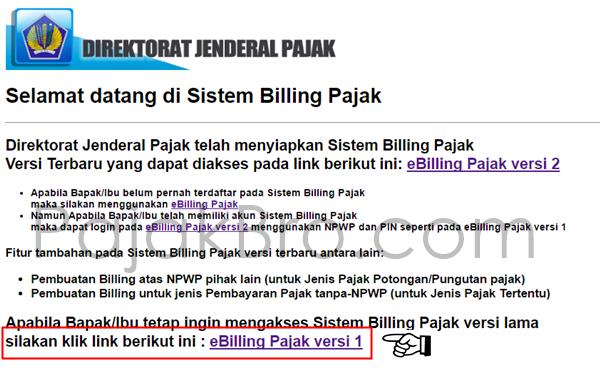 Cara Daftar eBilling Pajak Online