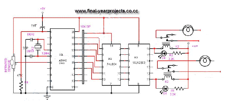 onoff infrared remote control circuit diagram