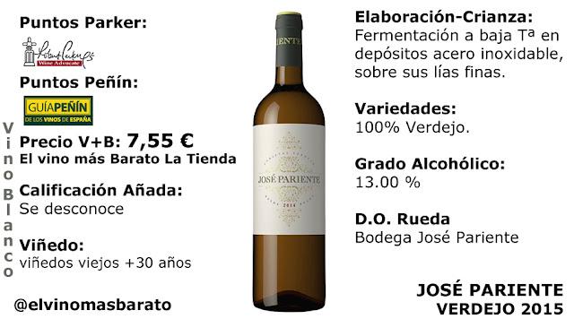 Comprar José Pariente Verdejo 2015