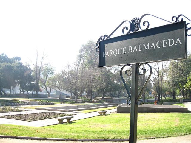 Parque Balcameda em Santiago do Chile