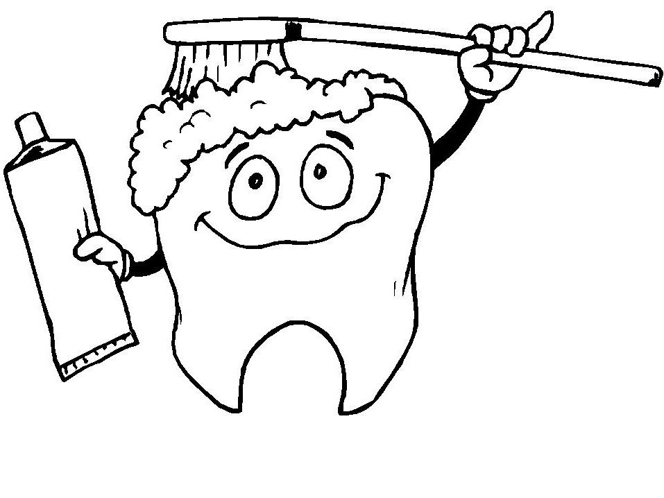 De fio dental escovando os dentes 1