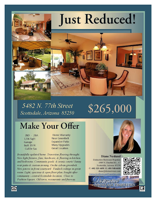 OPEN HOUSE Friday/Saturday= 4.11 & 4/12, 2014 - REDUCED! 5482 N. 77th St. Scottadlae, Az 85250