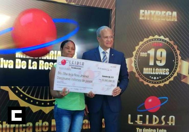Dueña de fritura gana RD$19 millones en la loto