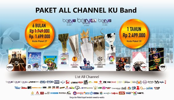 Paket Terbaru All Channel Orange TV KU Band