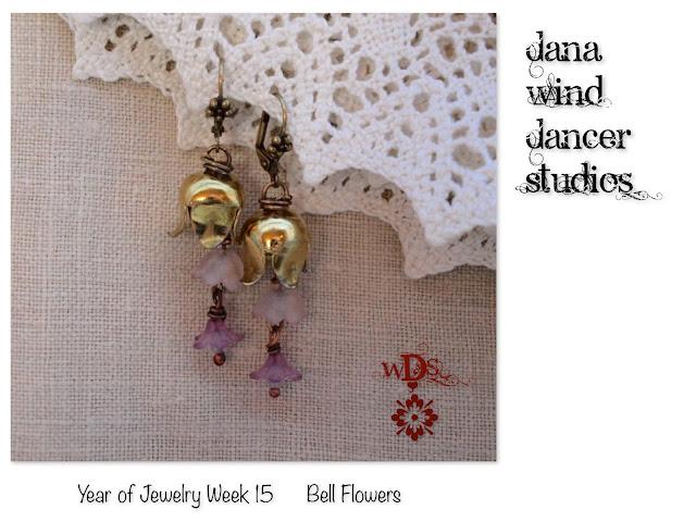 Wind Dancer Studios; Bell Flower Earrings