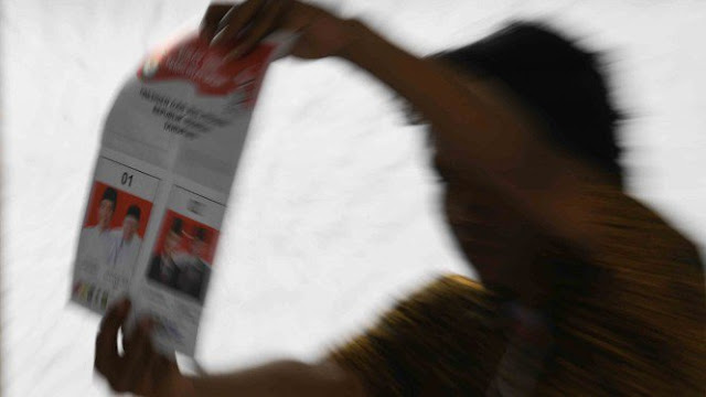 Coblos Ulang di TPS 163 Pulogebang, Prabowo Ungguli Jokowi