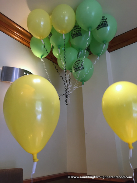Lots of balloons for our Brewers Fayre birthday party