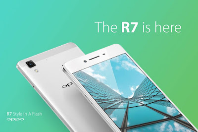 Oppo R7 Specifications - LAUNCH Announced 2015, May DISPLAY Type AMOLED capacitive touchscreen, 16M colors Size 5.0 inches (~66.7% screen-to-body ratio) Resolution 1080 x 1920 pixels (~445 ppi pixel density) Multitouch Yes Protection Corning Gorilla Glass 3  - Color OS 2.1 BODY Dimensions 143 x 71 x 6.3 mm (5.63 x 2.80 x 0.25 in) Weight 147 g (5.19 oz) SIM Dual SIM (Nano-SIM/ Micro-SIM, dual stand-by) PLATFORM OS Android OS, v4.4.2 (KitKat) CPU Quad-core 1.5 GHz Cortex-A53 & quad-core 1.0 GHz Cortex-A53 Chipset Qualcomm MSM8939 Snapdragon 615 GPU Adreno 405 MEMORY Card slot microSD, up to 128 GB (uses SIM 2 slot) Internal 16 GB, 3 GB RAM CAMERA Primary 13 MP, f/2.2, Schneider-Kreuznach optics, phase detection autofocus, LED flash Secondary 8 MP, f/2.4 Features Geo-tagging, touch focus, face detection, panorama, HDR Video 1080p@30fps NETWORK Technology GSM / HSPA / LTE 2G bands GSM 850 / 900 / 1800 / 1900 - SIM 1 & SIM 2 3G bands HSDPA 850 / 900 / 1900 / 2100 - Global, Taiwan  HSDPA 850 / 900 / 1700(AWS) / 1900 / 2100 - USA 4G bands LTE band 1(2100), 3(1800), 7(2600), 8(900), 40(2300) - Global  LTE band 1(2100), 3(1800), 5(850), 7(2600), 8(900), 28(700), 40(2300) - Taiwan  LTE band 1(2100), 3(1800), 4(1700/2100), 7(2600), 17(700), 20(800) - USA Speed HSPA, LTE Cat4 150/50 Mbps GPRS Yes EDGE Yes COMMS WLAN Wi-Fi 802.11 b/g/n, Wi-Fi Direct, hotspot GPS Yes, with A-GPS, GLONASS USB microUSB v2.0, USB Host Radio  Bluetooth v4.0 FEATURES Sensors Accelerometer, proximity, compass Messaging SMS (threaded view), MMS, Email, Push Email Browser HTML5 Java No SOUND Alert types Vibration; MP3, WAV ringtones Loudspeaker Yes 3.5mm jack Yes BATTERY Non-removable Li-Po 2320 mAh battery Stand-by  Talk time  Music play  MISC Colors Golden, Silver  - Fast battery charging: 75% in 30 min - Active noise cancellation with dedicated mic - MP4/H.264 player - MP3/WAV/eAAC+/FLAC player - Document viewer - Photo/video editor