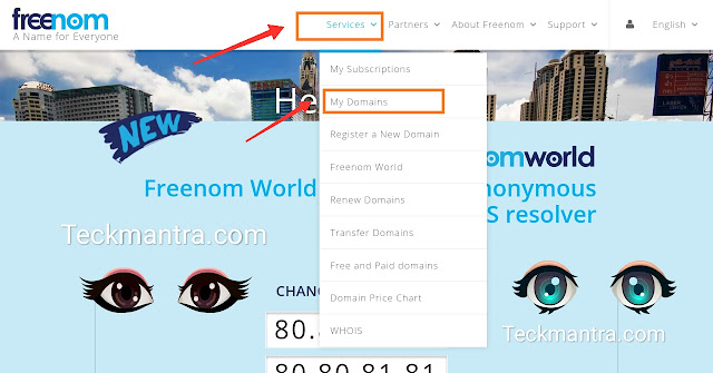 How to add freenom custom domains to blogger website
