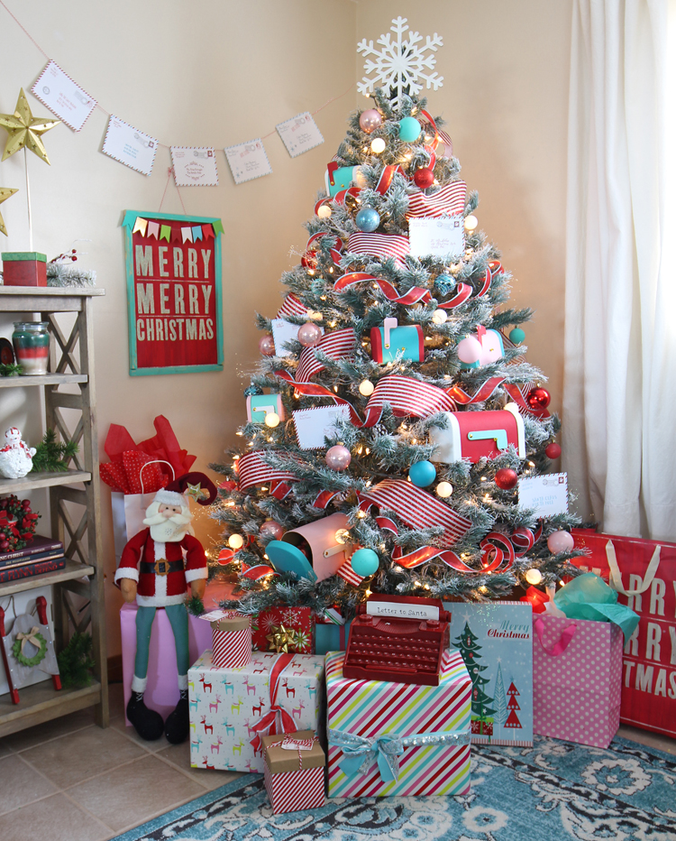 A fun and whimsical holiday tree decorating idea