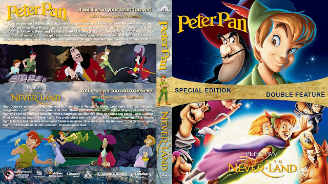 Peter Pan Double Feature Collection Bluray Cover
