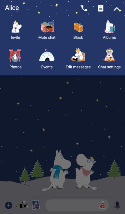 Moomin 冬季夜晚