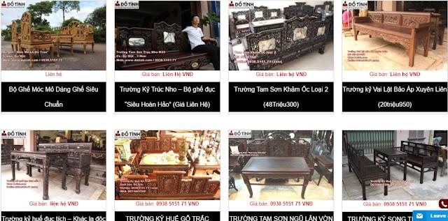 Trang web www.dotinh.com - Nơi trao đổi mua bán trường kỷ gỗ đẹp