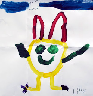 The Easter Bunny painted by Lilly age 4