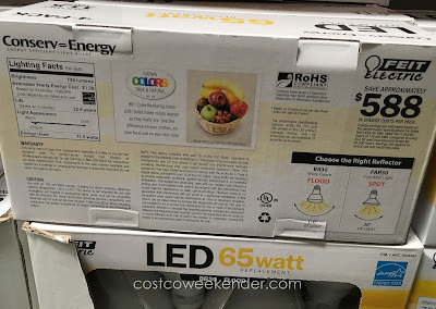 Costco 1023467 - Save on the cost of energy with the Feit BR30 65 Watt LED Flood Light