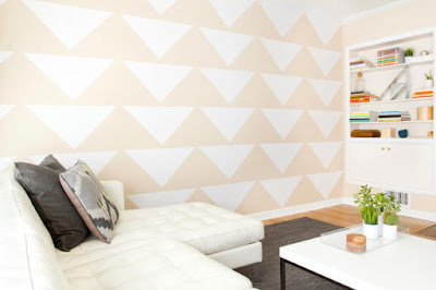 Tudo pra Casa: Decoração e Arte. Paredes com formas geométricas