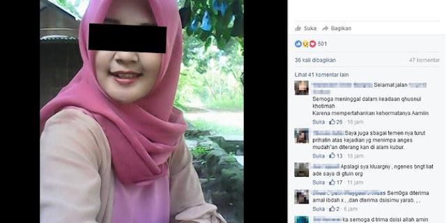 Gadis Cantik tewas ditangan penjaga warung bubur