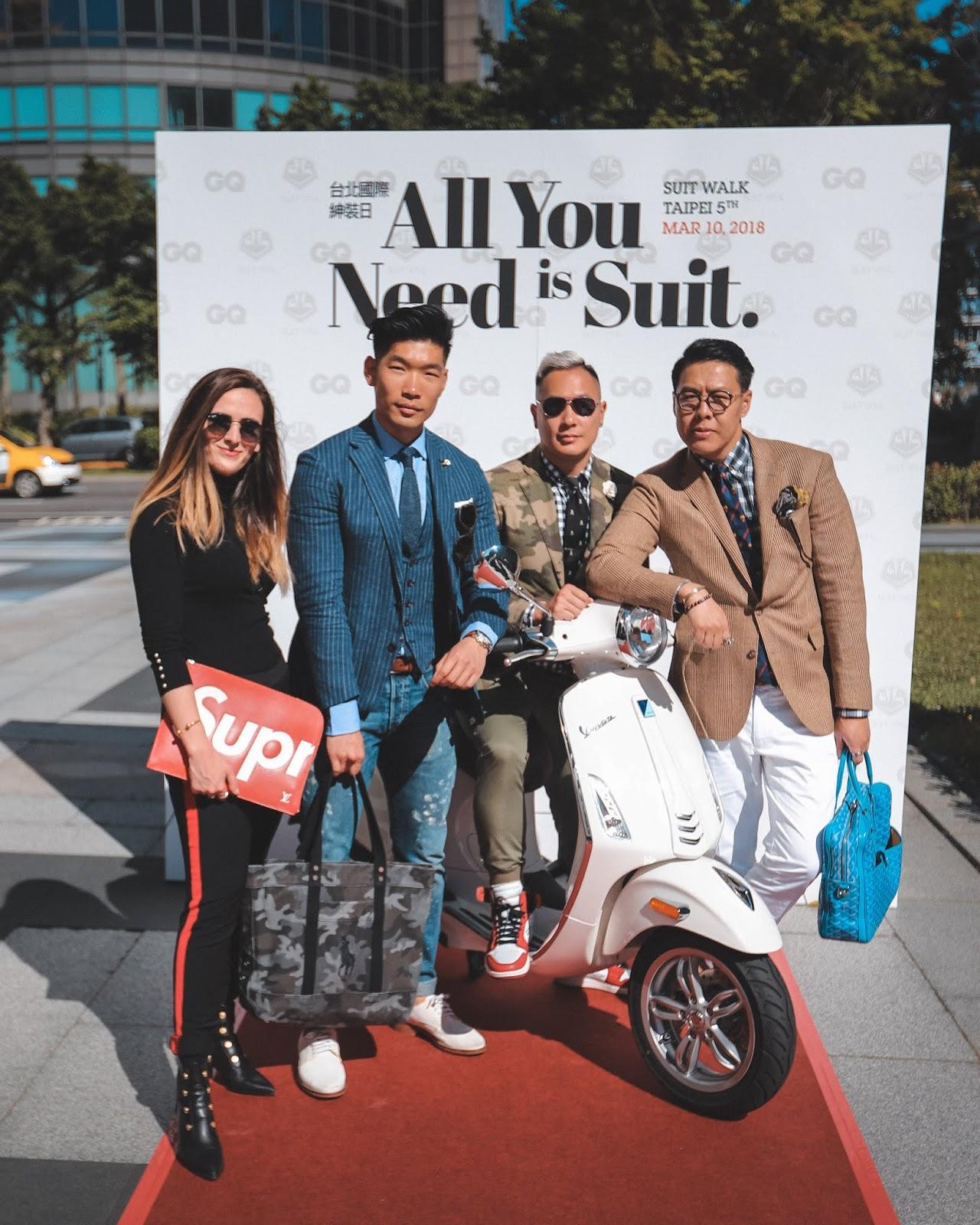 Alicia Mara, Leo Chan, Wil Fang, and Mr Gumbatron at Taiwan Suit Walk