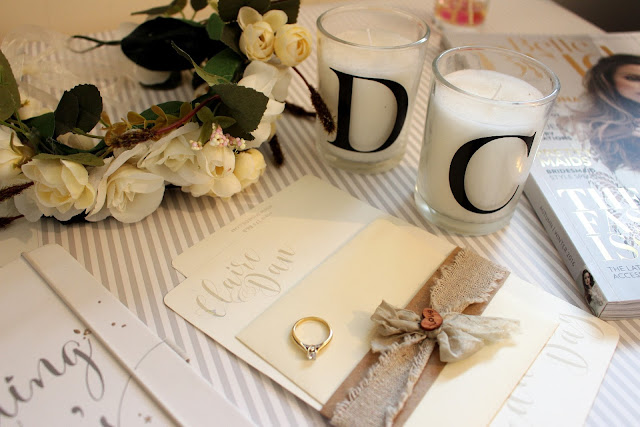 wedding planning flat lay image.