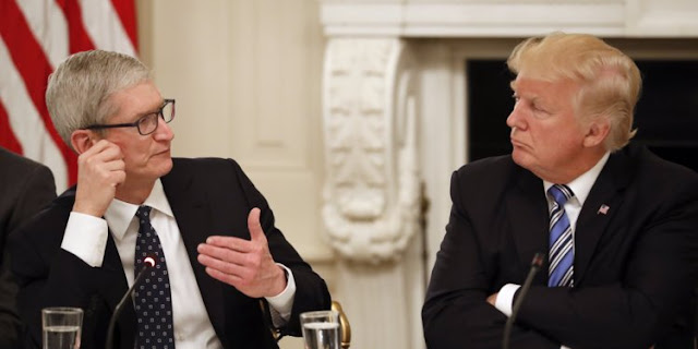 Donald Trump and Tim Cook | Business Insider