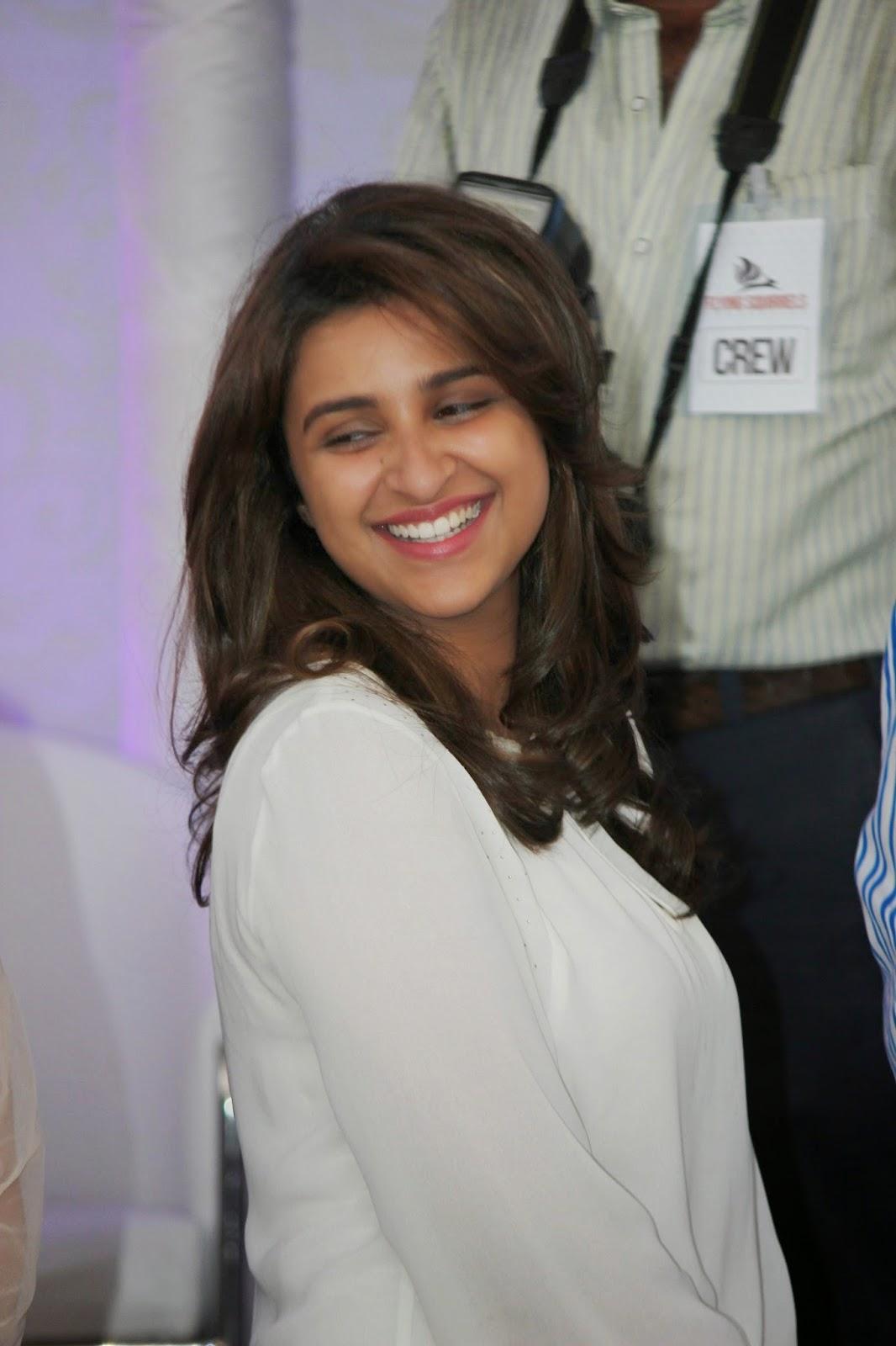 Parineeti Chopra Without Makeup Smiling Teeths Closeup Stills