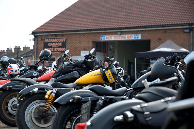 row of harley davidsons