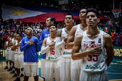 Gilas Pilipinas Singing the Philippine National Anthem