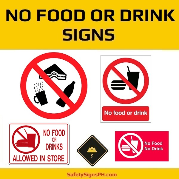 No Food or Drink Signs Philippines