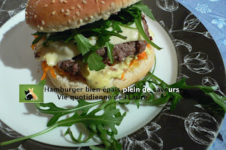 Vie quotidienne de FLaure: Hamburger bien épais plein de saveurs