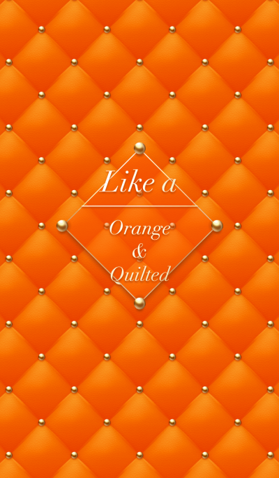Like a - Orange & Quilted *HoneyBee