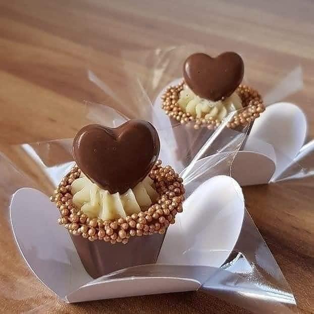 Copinho de Chocolate Com Coração