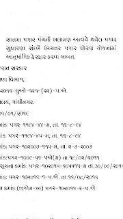 सातमा पगार पंचनी भलामण अन्वए थयेल पगार सुधारना संदर्भ उच्चतर पगार धोरण योजनामा आनुषंगिक फेरफार बाबत ठराव नाणा विभाग गुजरात राज्य