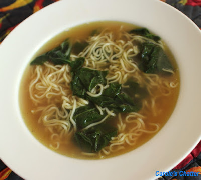 Carole's Chatter: Asian Chicken Noodle Soup with Baby Silverbeet
