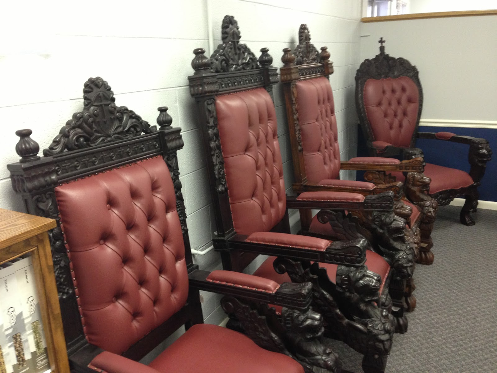 pastor pulpit chairs art deco club leather bishop lion related keywords