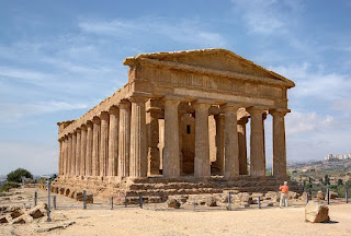 The Greek Temple of Concordia is one of the attractions in the Valley of the Temples outside Agrigento