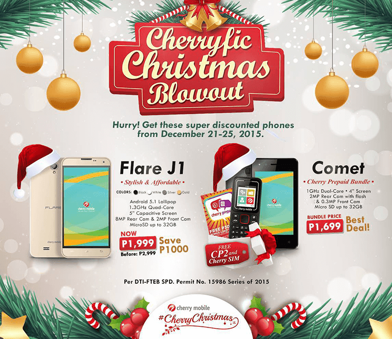 Just In! Cherryfic Christmas Blowout Announced, Get The Flare J1 For 1999 Pesos Only!