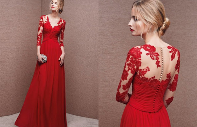 A-line Scoop Floor-length Chiffon Prom Dresses/Evening Dresses #SI006