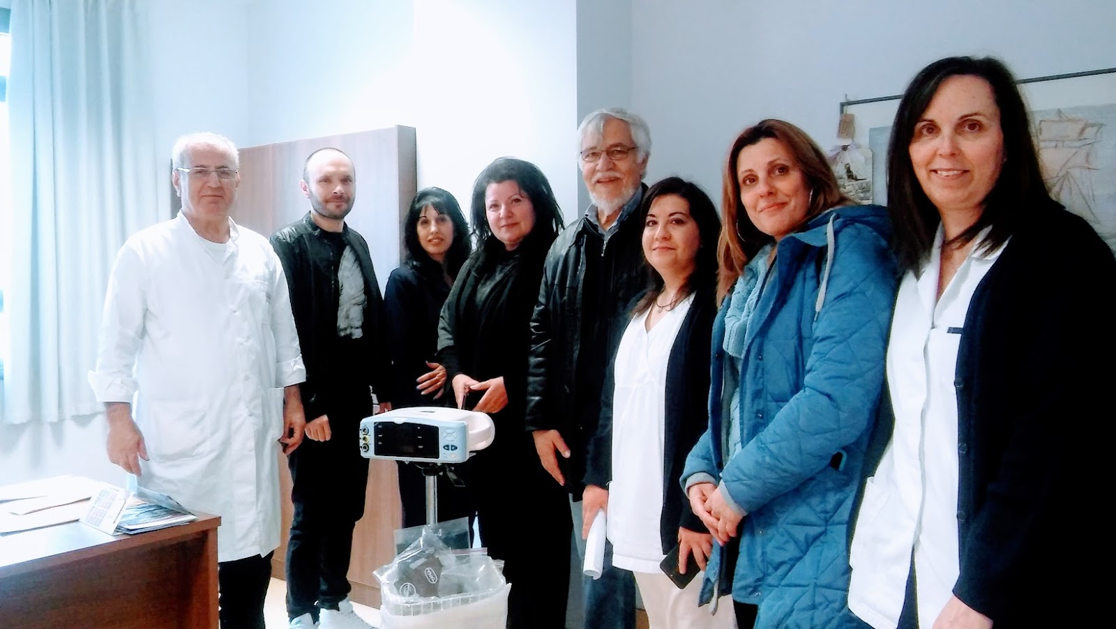 Παράδοση δωρεάς του ΣΚΕΤΧ στο Γενικό Νοσοκομείο Χαλκιδικής, απο την εκδήλωση μνήμης του Δημήτρη Πετρίδη