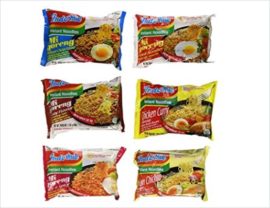 Indomie Variety Pack BBQ Satay Hot Spicy Fried Noodles Chicken