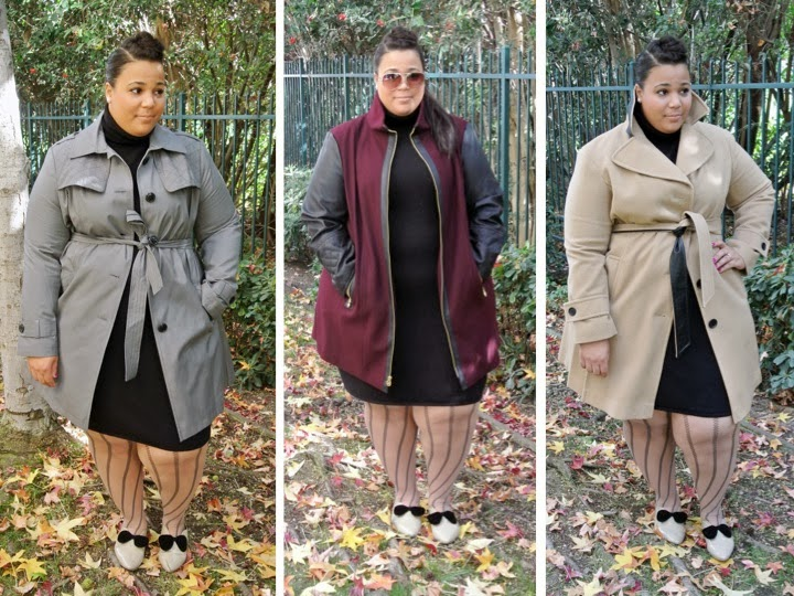 Plus Size blog, plus size coats, Michael Kors, DKNY