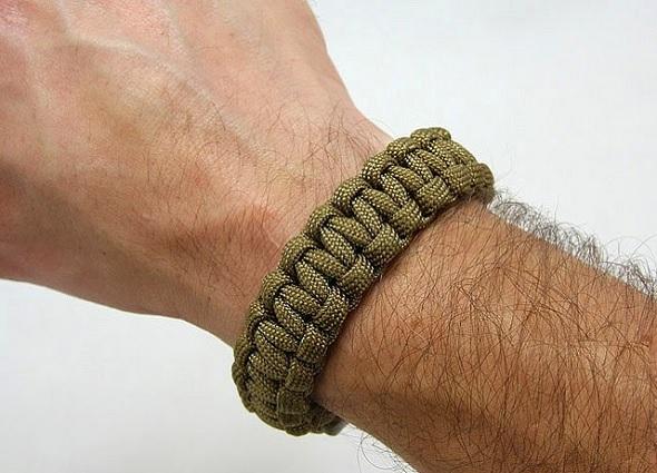 pulseras, brazaletes, hombres, macramé, combate