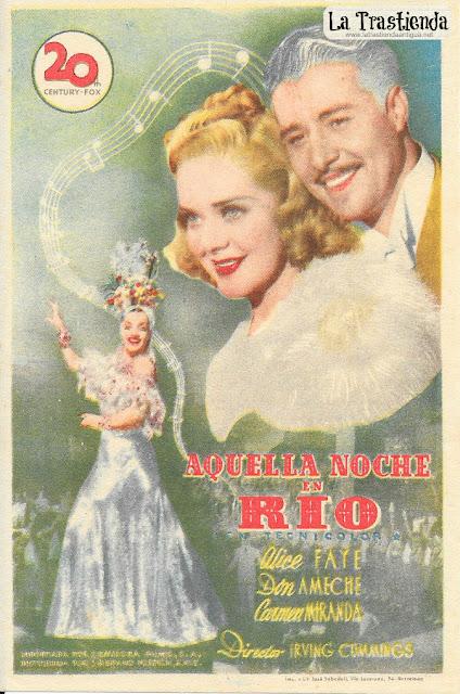 Aquella Noche en Rio - Programa de Cine - Alice Faye - Don Ameche