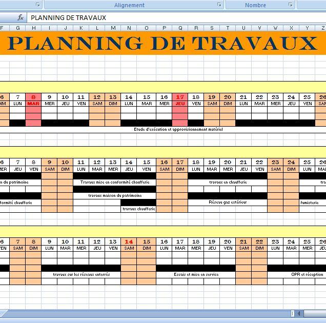 modèle planning travaux de construction - xls | outils, livres ... - Echeancier Construction Maison Individuelle
