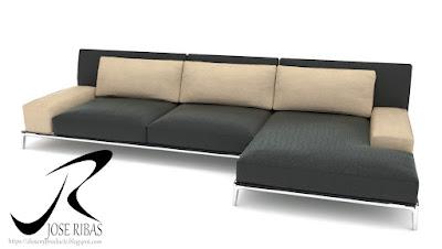 Sofa modelo DissenyProducte Negro