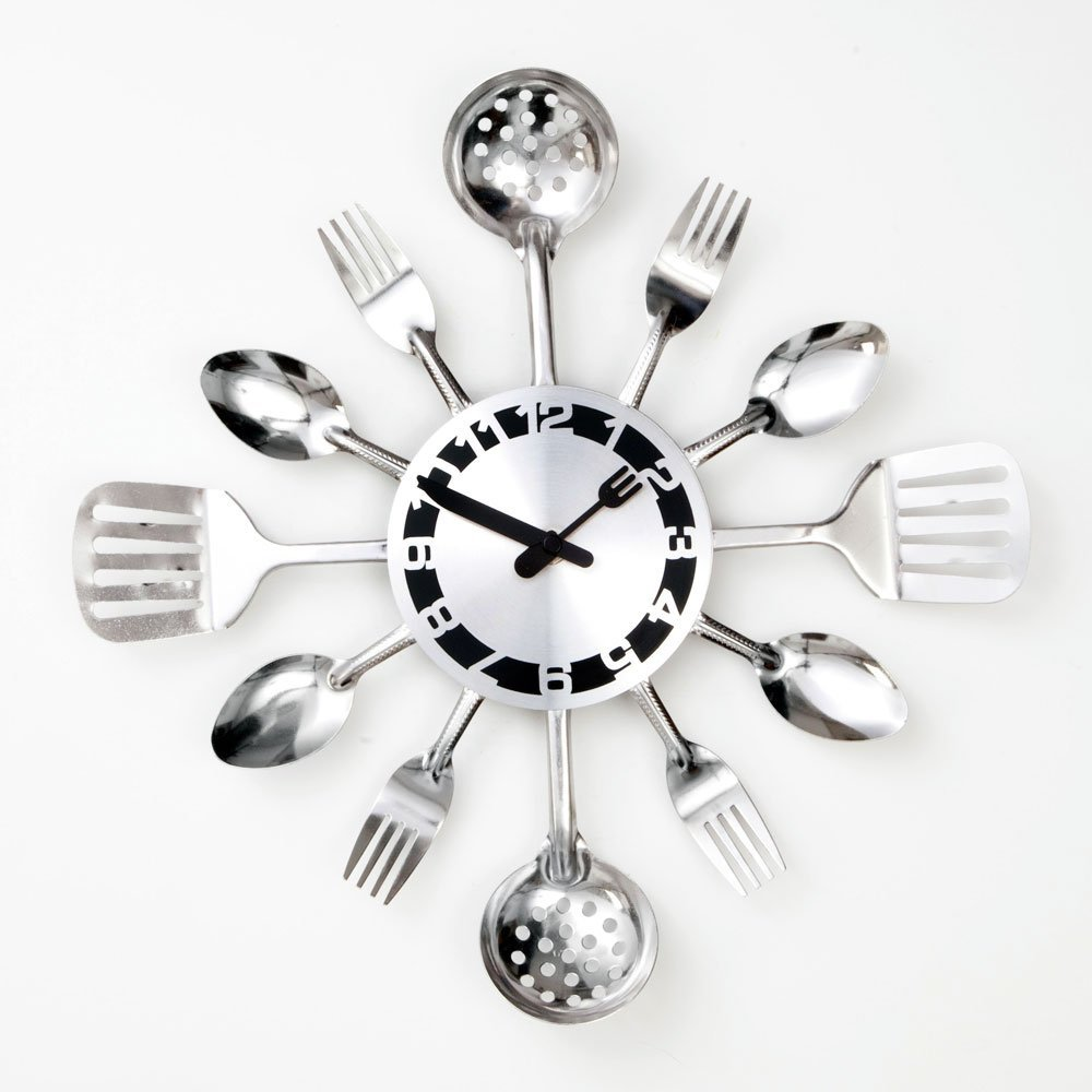 Total Fab Kitchen Utensils Wall Clocks
